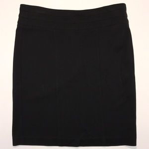 CAbi midi black skirt